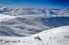 Vulkanen van het Schiereiland van Kamchatka, Rusland. Royalty-vrije Stock Foto's