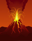 Vulkaneruption Stockfoto