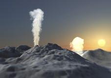 Vulkaneruptions-Rauchasche Lizenzfreie Stockfotos