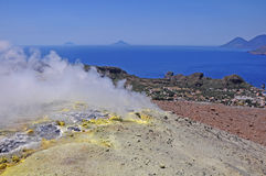 Vulkaninsel. lizenzfreie stockbilder
