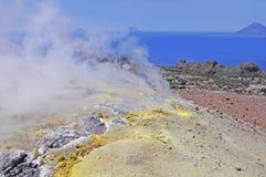 Vulkaninsel. stockfotografie
