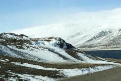 Vulkanisch berglandschap in IJsland Stock Foto's