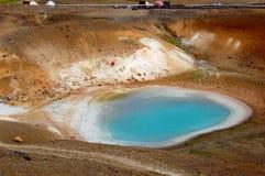 Vulkanisch gebied, meer Viti in IJsland Royalty-vrije Stock Foto