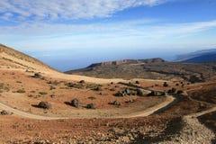 Vulkanisch landschap Stock Foto's