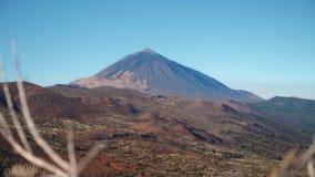 Vulkanisch landschap bij de voet van de vulkaan Teide Stock Afbeeldingen