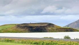 Vulkanisch landschap, IJsland Royalty-vrije Stock Afbeeldingen