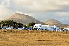 Vulkanisch landschap, Lanzarote Stock Afbeelding