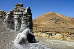 Vulkanisch landschap in Lanzarote (Canarische Eilanden) Royalty-vrije Stock Afbeelding