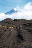 Vulkanisch landschap op Kamchatka Stock Afbeelding