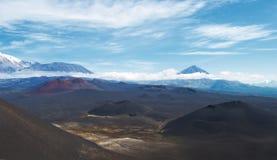 Vulkanisch landschap op Kamchatka Stock Fotografie