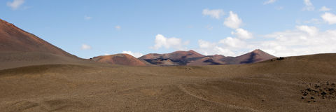 Vulkanisch landschap - panorama Stock Foto's