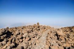 Vulkanisch landschap in Teide-park, Tenerife, Canarische Eilanden, Spanje Royalty-vrije Stock Fotografie