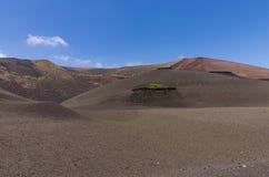 Vulkanisch landschap in Timanfaya Royalty-vrije Stock Fotografie