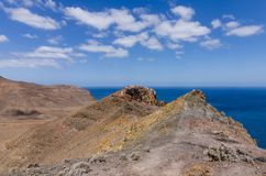 Vulkanisch landschap van Fuerteventura royalty-vrije stock afbeelding