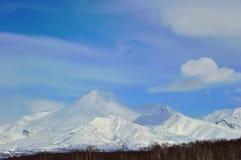 Vulkanisch landschap van Rusland Stock Foto
