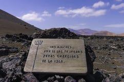 Vulkanisch landschap van Timanfaya Stock Fotografie