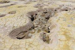 Vulkanisch Lava Pool royalty-vrije stock afbeeldingen