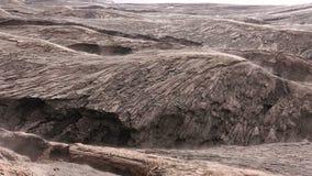 Vulkanisch Lava Smokes Naadloze lijn stock videobeelden
