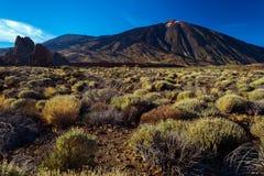 Vulkanisch lavalandschap op Teide Royalty-vrije Stock Fotografie