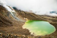 Vulkanisch meer, ongebruikelijk landschap stock afbeeldingen