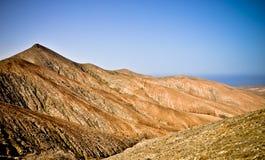 Vulkanisch panorama van Fuerteventura. Canarias royalty-vrije stock foto