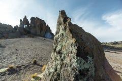 Vulkanisch rotsenlandschap royalty-vrije stock foto