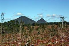 Vulkanisch schließt Australien an lizenzfreie stockfotografie