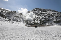 Vulkanische activiteit in Hokkaido, Japan Royalty-vrije Stock Afbeelding