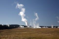 Vulkanische activiteit in Nationaal Park Yellowstone Stock Foto