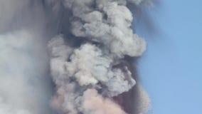 Vulkanische as stock footage