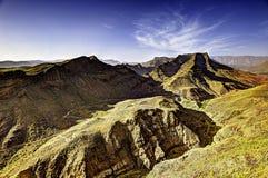 Vulkanische bergen royalty-vrije stock afbeelding