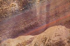 Vulkanische Beschaffenheit des roten Tuffs Stockfoto