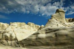 Vulkanische Bildungen in der Milosinsel Stockbild