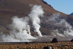 Vulkanische brenzlige Stelle Stockfotos