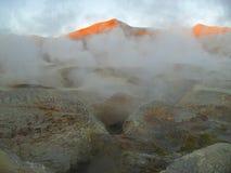 Vulkanische Dämmerung Stockbild