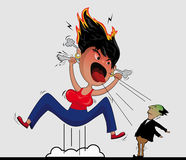 Vulkanische emoties stock illustratie