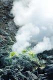 Vulkanische Entlüftungsöffnungen am Vulkan Lizenzfreie Stockfotografie