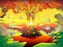 Vulkanische Eruption Stockbild