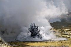 Vulkanische Eruption Stockfotos