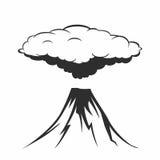 Vulkanische Eruption mit Rauchwolken Lizenzfreie Stockfotografie