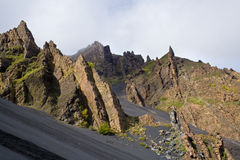 Vulkanische Felsen stockbilder