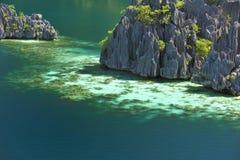 Vulkanische Felsen in der coron Insel Stockfoto