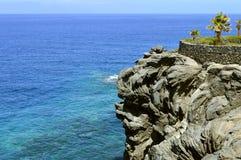 Vulkanische Felsformation Küste Callao Salvaje Lizenzfreies Stockbild