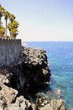 Vulkanische Felsformation Küste Callao Salvaje Lizenzfreies Stockfoto