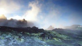 Vulkanische gassen stock videobeelden
