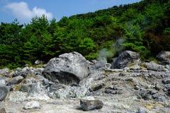 Vulkanische heiße Quellen Stockbild