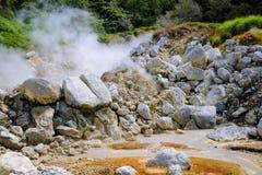 Vulkanische heiße Quellen Stockfotos