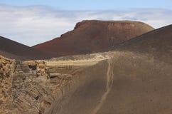 Vulkanische Küstenlinienlandschaft Azoren in Faial-Insel Ponta DOS Capelinhos stockbild