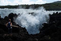 Vulkanische K?ste stockfotografie