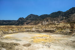 Vulkanische krater Royalty-vrije Stock Foto's